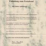 Festabend zur 950-Jahr-Feier des Dorfes Apfeltrach