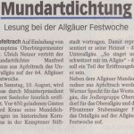 Unterallgäu Rundschau 31. Juli 2013