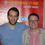 Mit Wirbelwind Alexander Thiel beim Saisonabschluss 2014 in der Zeppelinhalle (Aufnahme von Jörg Dietrich Achenbach)