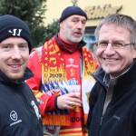 Gespräch mit ESVK-Kapitän Daniel Menge während der großen Stadionkundgebung im Januar 2015 (Aufnahme von Jörg Dietrich Achenbach)