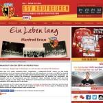 Vorstellung des Eishockeybuches Ein Leben lang auf der Website des ESV Kaufbeuren (Oktober 2017, Bildschirmfoto von Thomas Baumgartner)